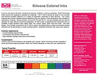 Silicone Colored Inks
