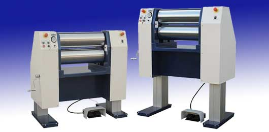 Adjustable Height - Vertical Electric Roll Mill -For Milling and Calendering 2 Part Silicone